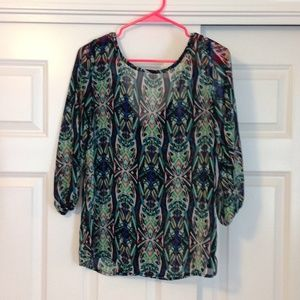 Charlotte Russe bow back top